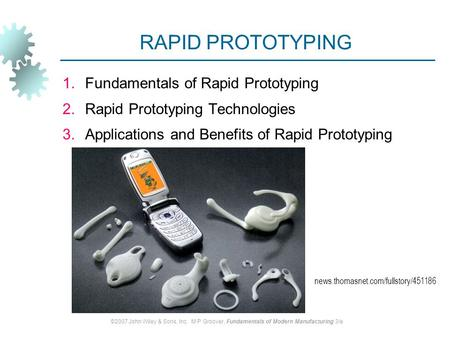 RAPID PROTOTYPING Fundamentals of Rapid Prototyping