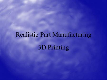 Realistic Part Manufacturing 3D Printing. Old Technologies: Stereo lithography Stereolithography (SLA) is often considered the pioneer of the Rapid Prototyping.
