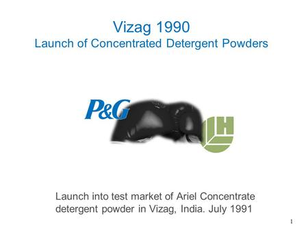 Vizag 1990 Launch of Concentrated Detergent Powders