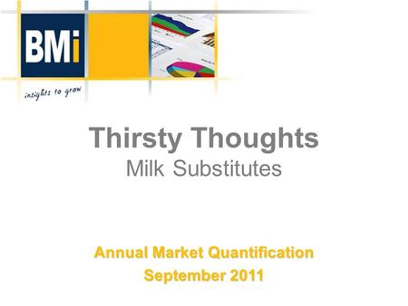 Thirsty Thoughts Milk Substitutes Annual Market Quantification September 2011.
