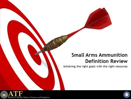 Small Arms Ammunition Definition Review Achieving the right goals with the right resources.