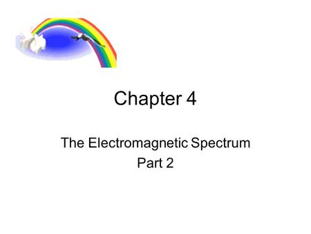 Chapter 4 The Electromagnetic Spectrum Part 2.