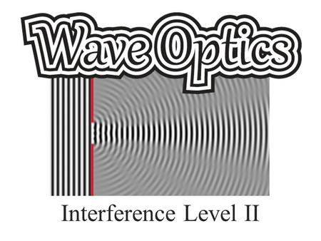 Interference Level II. The Wave Model of Light Light is a transverse electromagnetic wave! – It is composed of perpendicular electric and magnetic fields.