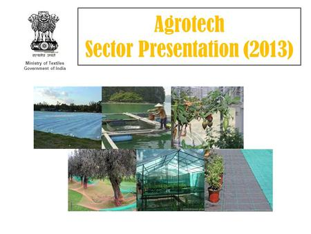 Ministry of Textiles Government of India Agrotech Sector Presentation (2013)
