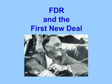 FDR and the First New Deal. The 1932 Election Franklin D. Roosevelt Herbert Hoover Democrat Republican Electoral vote: 472 59 Percentage: 57.4% 39.7%