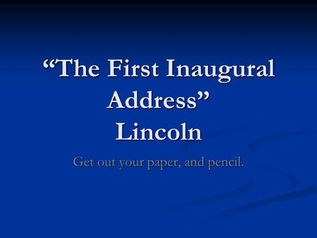 Custom Analysis Essay On Lincoln
