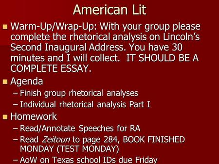 Write My Esl Rhetorical Analysis Essay On Lincoln