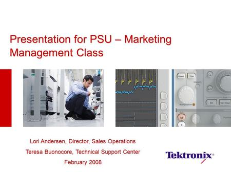 Presentation for PSU – Marketing Management Class