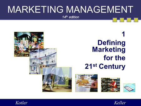 MARKETING MANAGEMENT 14th edition