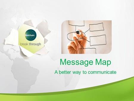 Message Map A better way to communicate. A Critical Part of Leadership A leader establishes themselves through concise communication A leader is able.