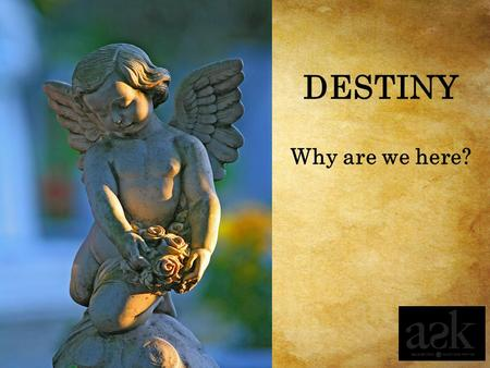 Why are we here? DESTINY. Imagining a Destiny Beyond the End Session 4.1.