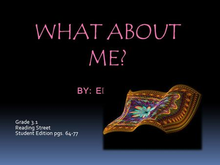 What about me? by: ed young
