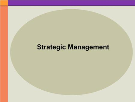 Strategic Management. 2 The Dynamics of Strategic Planning Strategy  large-scale action plan that sets the direction for an organization Strategic management.