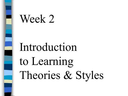 essay on learning theories