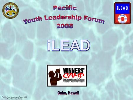 Pacific Youth Leadership Forum 2008 Final Speaking Points.
