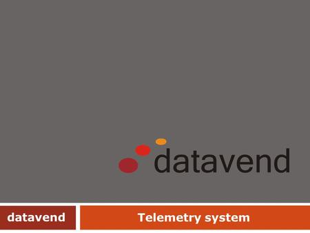 Telemetry system datavend.