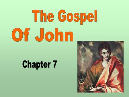 1. 2  Historical Overview  Author  Date Written  Audience  Sources  John's Focus Who Jesus is rather than kingdom of God Combat false ideas Oppose.