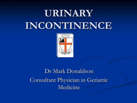 Dr Mark Donaldson Consultant Physician in Geriatric Medicine