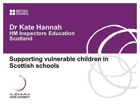 Dr Kate Hannah HM Inspectors Education Scotland
