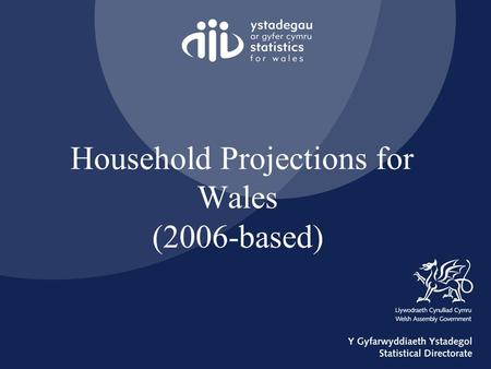 Household Projections for Wales (2006-based). Presentation Outline Background Methodology Wales Results Household Estimates HOUSEGROUP WALES.