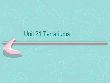 Unit 21 Terrariums. What is a Terrarium? It is a container that usually is covered in which plants are grown in. The original terrarium was developed.