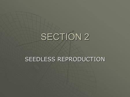 SEEDLESS REPRODUCTION
