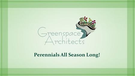 Perennials All Season Long!. Maintenance  Bulb planting for next season  Dividing overgrowth  Mulch for winter protection  Redesigning beds.