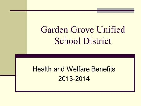 Garden Grove Unified School District