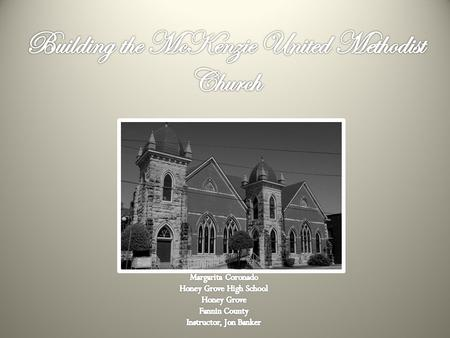 Beginning of Methodism in Honey Grove Methodism in the Honey Grove area began in 1842. A man named W. B. Allen donated a plot of land to the Methodist.