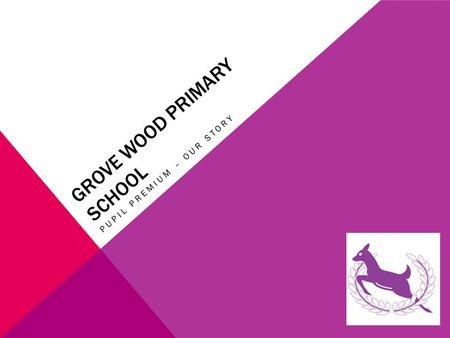 GROVE WOOD PRIMARY SCHOOL PUPIL PREMIUM – OUR STORY.