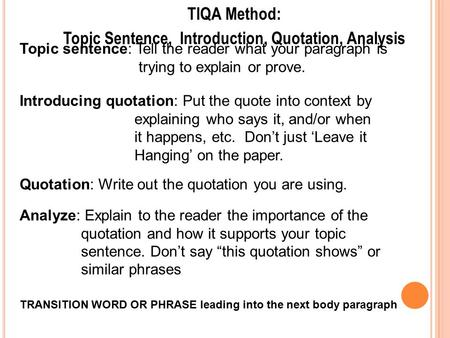 introducing quotes in a literary essay Links: ucsb – the introductory paragraph  some writers find it useful to put a quote at the  this approach is most useful in essays that .