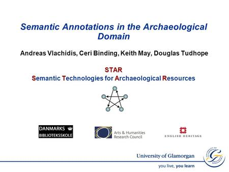 Semantic Annotations in the Archaeological Domain Andreas Vlachidis, Ceri Binding, Keith May, Douglas TudhopeSTAR STAR Semantic Technologies for Archaeological.