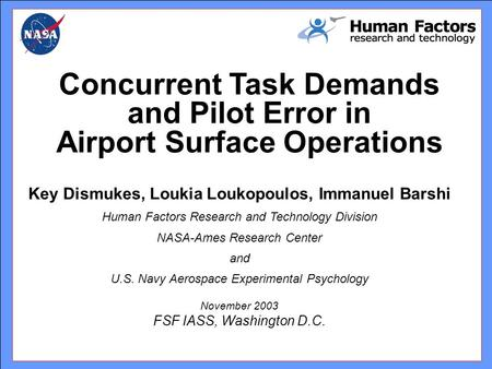 Concurrent Task Demands and Pilot Error in Airport Surface Operations