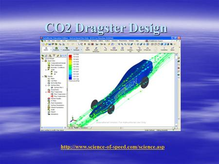 CO2 Dragster Design http://www.science-of-speed.com/science.asp.