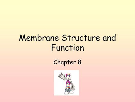 Membrane Structure and Function Chapter 8. Plasma membrane of cell selectively permeable (allows some substances to cross more easily than others) Made.