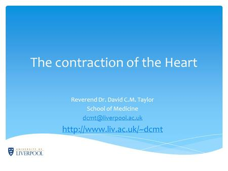 The contraction of the Heart