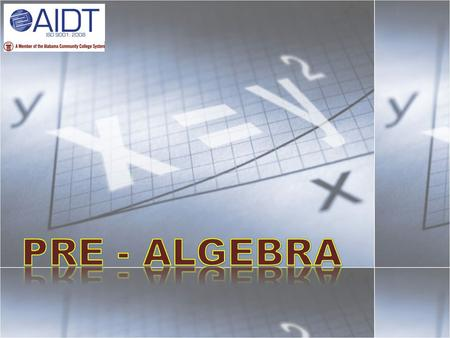 A. What Is Algebra A branch of mathematics in which arithmetic relations are generalized and explored using letter symbols to represent numbers, variable.