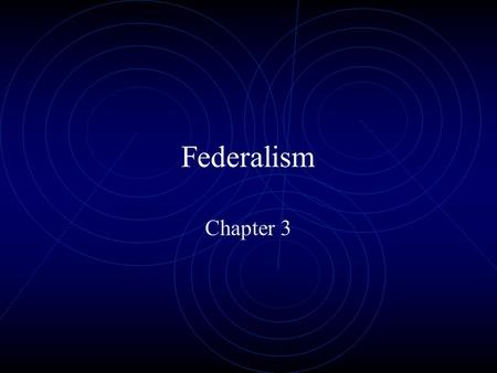 Federalism Chapter 3. Defining Federalism What is Federalism? Definition: A way of organizing a nation so that two or more levels of government have formal.