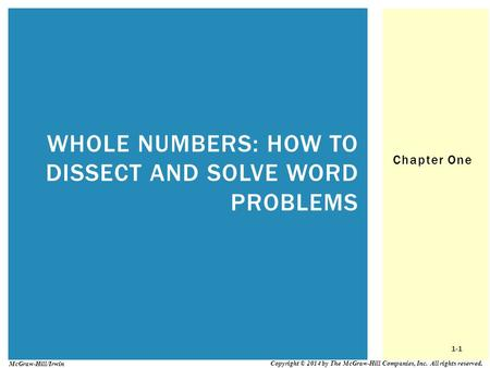 Whole numbers: How to Dissect and Solve word problems