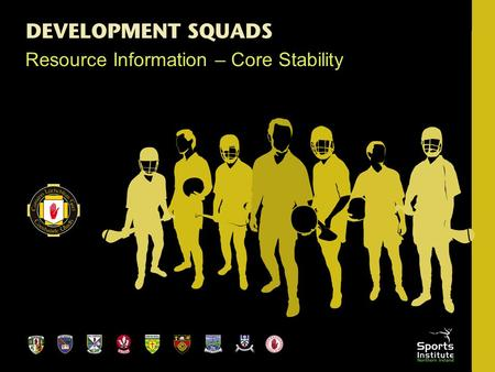 Resource Information – Core Stability. Introduction Strength, speed, flexibility & agility Type of sport & position GOAL - a balance which will lead to.