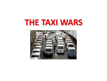 THE TAXI WARS. The multi-billion rand minibus taxi industry carries over 60% of South Africa's commuters. The industry is almost entirely made up of 16-