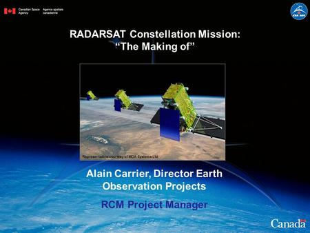 Alain Carrier, Director Earth Observation Projects
