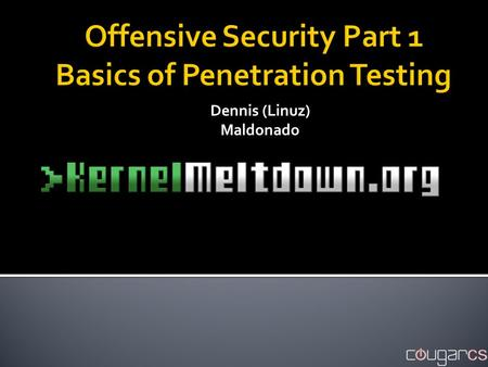 Offensive Security Part 1 Basics of Penetration Testing