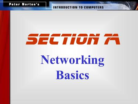 Networking Basics SECTION 7A. This lesson includes the following sections: The Uses of a Network How Networks are Structured Network Topologies for LANs.