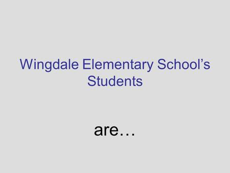 Wingdale Elementary School's Students