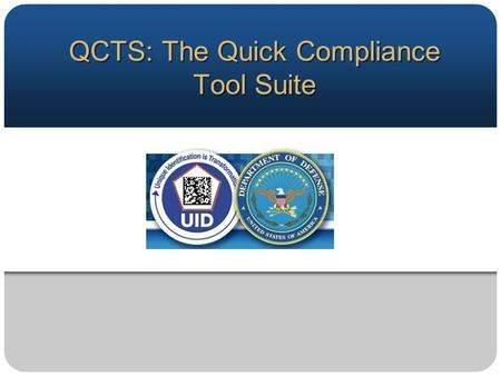 About QCTS Government owned tools