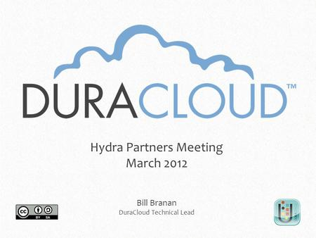 Hydra Partners Meeting March 2012 Bill Branan DuraCloud Technical Lead.