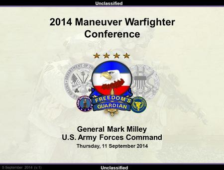 1st cavalry division command brief ppt video online download 522013 unclassified 5 september 2014 v1 2014 maneuver toneelgroepblik Images