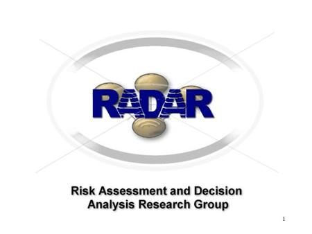 1. Profile Decision-making and risk assessment under uncertainty Special expertise on software project risk assessment Novel applications of causal models.