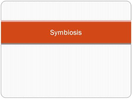Symbiosis. Populations that live in close physical contact with each other interact in a variety of ways.